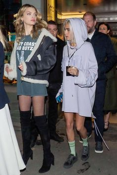 Lily Donaldson and Cara Delevingne - Paris - March 6 2017
