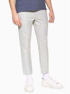 72472e6aa85 Light Grey Skinny Stripe Trousers. Keep it smart casual. Topman