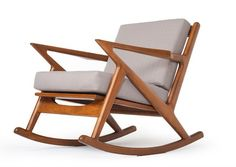 The Kennedy Rocking Chair - Mid Century Modern Furniture - Danish Style Z Rocker. Shop for the best midcentury modern chairs, ottomans and seating online! Find furniture for your home. Ships in 7 days! Made in USA! Eames Rocker, Do It Yourself Inspiration, My Bebe, Design Living Room, Mid Century Chair, Modern Dining Chairs, Mid Century Modern Furniture, Gliders, Chair Design