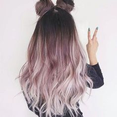 Dyed Hair Ombre, Blond Ombre, Dyed Blonde Hair, Ombre Hair Color, Pink Color, Red Ombre, Ombre Brown, Pastel Ombre Hair, Brunette Hair