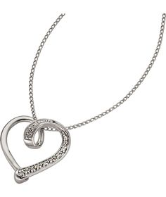 Buy Sterling Silver Diamond Heart Pave Set Slide Pendant at Argos.co.uk - Your Online Shop for Ladies' necklaces.