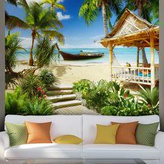 Fotomurali: Spiaggia Caraibi #fotomurale #murale #parede #muro #decorazione #deco #StickersMurali