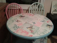 Pastel dining table and chairs :)