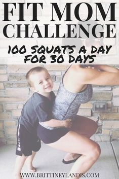 30 Day Challenge: 100 Squats a Day Fit mom challenge! 100 squats a day for 30 days! Learn different squat variations and how to squeeze in 100 squats a day for maximum results. This 30 day challenge is the perfect way to get your booty back in shape! 30 Day Ab Workout, Mommy Workout, Workout Plans, Boxing Workout, 100 Squat Challenge, 30 Day Challenge, 30 Day Fitness, Fitness Motivation, Fitness Tips