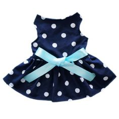 Cute Polka Dot Ribbon Dog Dress Dog Clothes Cozy Dog Shirt Pet Dress, XX-Small by FurBaby, http://www.amazon.com/dp/B00D1Y5FFM/ref=cm_sw_r_pi_dp_TWi5rb09HBVWM