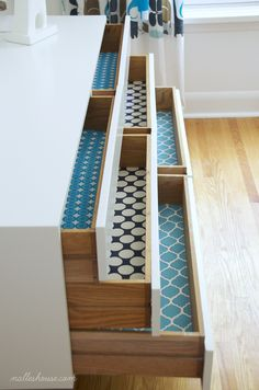 Nalle's House: DIY FABRIC DRAWER LINERS