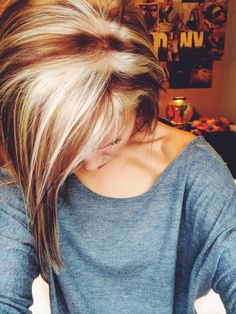 Highlights & lowlights, I like this color on her, don't think I'm brave enough to try it