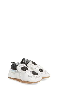 Robeez® 'Pretty Petal' Crib Shoe (Baby & Walker) (Online Only) available at #Nordstrom