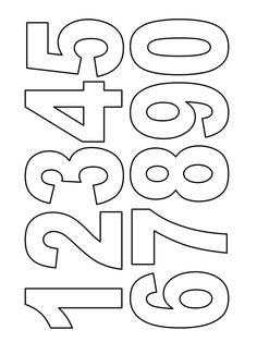 BOJANKE ZA DECU - BROJEVI Graffiti Lettering Fonts, Tattoo Lettering Fonts, Hand Lettering Alphabet, Printable Job Applications, Alphabet Templates, Number Templates, Free Printable Numbers, Diy Crafts To Do, Applique Embroidery Designs