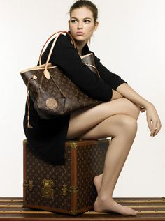 Louis Vuitton Neverfull Damier Azur, Burberry bikini and Tiffany necklace