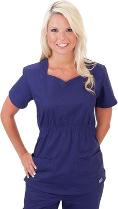 Tunics hair and spa uniform on pinterest for Spa uniform canada
