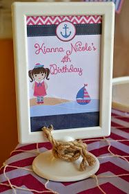A nautical party with beautiful elements for a sweet little girl turning Melissa is one of my oldest clients. Nautical Party, Girl Birthday, Little Girls, Events, Decor, Toddler Girls, Decoration, Decorating, Deco