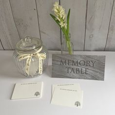 Memory Table Tent Card Funeral Celebration of by AngelAndDove