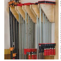 Wall Mounted Clamp Rack - Downloadable Plan