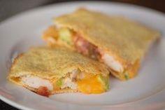 Primal Zone Diet ~ Chicken Avocado Quesadillas