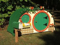 How cool is this!  Hobbit Playhouse Plans by franbishopdesigns on Etsy, $24.95