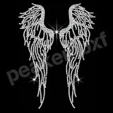 ANGEL FAIRY WING IRON-ON HOTFIX BLING HOLOGRAPHIC TSHIRT CLOTH TRANSFER PATCH