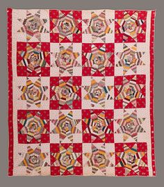 """""""Spiderweb"""", Quilt, Spiderweb pattern Date: ca. 1870 Geography: Mid-Atlantic, New Jersey, United States Culture: American Medium: Cotton Dimensions: 78 1/2 x 72 1/2 in. (199.4 x 184.2 cm) Classification: Textiles"""