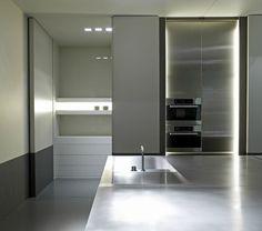 Minimalist kitchen _ by Belgian architect Minus _