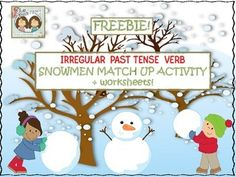 1-19-2015: This popular freebie has been revised!  Please re-download when you have a chance to see the improvements!  Irregular past tense verbs are tricky!  They require the act of memorization because they go against all of the normal rules on how to make a verb go into past tense form.