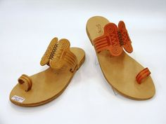 These sandals are inspired by ancient Greece and namely depict an Ancient Greek Column  Ionic style.