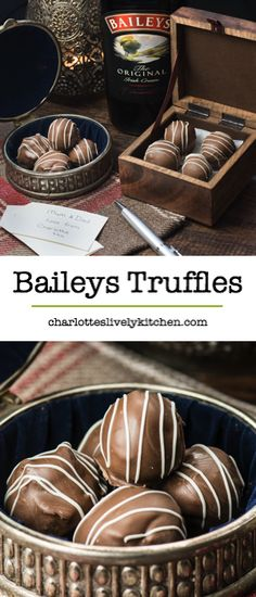 Treat someone you love with homemade Baileys truffles. There are two versions of this recipe, my original chocolate coated truffles and a quick and easy version. Both versions taste absolutely delicious and are the perfect gift for someone special. Gluten free.