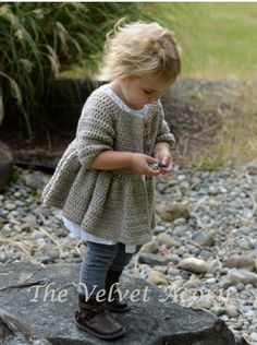 CROCHET PATTERN-The Rufflyn Cardigan (3/4 5/6 7/8 9/10 11/12 years) Thevelvetacorn 5.50 USD October 16 2015 at 01:32PM