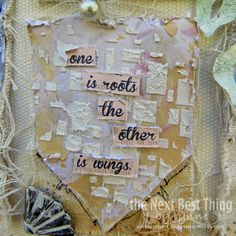 Two Gifts Canvas by Lynne Forsythe - one is the roots and the other is wings