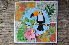 Tropical Quilts, Tropical Art, Tropical Birds, Tropical Leaves, Marianne Design Cards, Cricut Cards, Bird Cards, Cover Design, Making Ideas