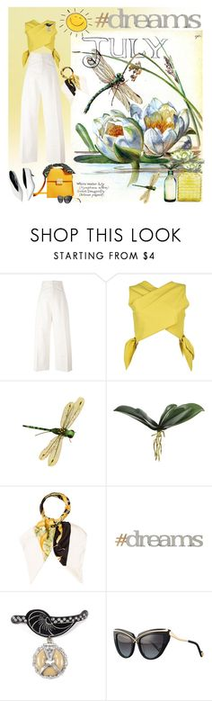 """""""July Dreams 🌞"""" by jacque-reid ❤ liked on Polyvore featuring Jacquemus, MSGM, Salvatore Ferragamo, Letter2Word and Anna-Karin Karlsson"""