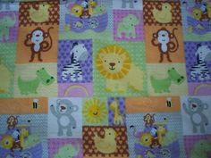 NOAH'S ARK DOUBLE Sided Flannel Blanket plus by PlainnSimplebyMimi