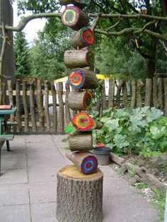 let the children play: sculptural and artistic elements in children's playscapes - great idea for a natural sculpture