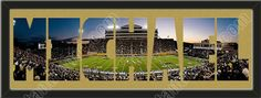 PERSONALIZE YOUR NAME with a framed large Wake Forest University stadium panoramic behind your name, single matted in team colors to 39 x 13.5 inches. $139.99          @ ArtandMore.com