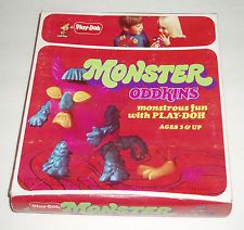 1972 Play-doh MONSTER ODDKINS Making Set Crazy roth Creatures