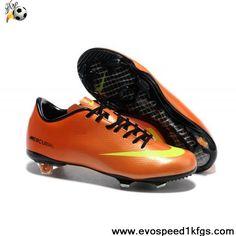 8ecc7a6206254 Nike Mercurial Vapor IX FG Orange Yellow Black Outlet Mens Football Boots