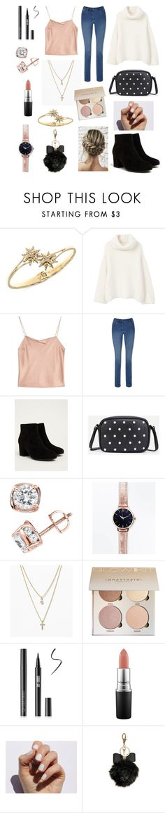 """Christmas with family"" by taylor-anne-moore ❤ liked on Polyvore featuring Ivanka Trump, MANGO, Alice + Olivia, Circus by Sam Edelman, TruMiracle, New Look, LOFT, MAC Cosmetics, SoGloss and GUESS"