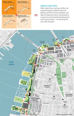 An interview with the principal of Michael Van Valkenburgh Associates, about New York City's new Brooklyn Bridge Park. Landscape Architecture Drawing, Landscape And Urbanism, Landscape Plans, Urban Landscape, Landscape Design, Architecture Diagrams, Landscape Architects, Architecture Portfolio, Urban Design Concept