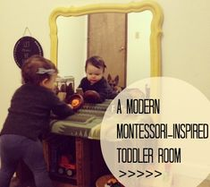 Changed up Fern's room to be more toddler friendly - here's the tour. Real Rooms: Fern's Modern #Montessori Inspired Toddler Room
