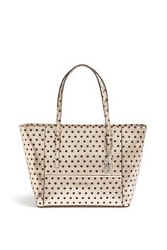 Delaney Rose Gold Polka-Dot Small Classic Tote | GUESS.com