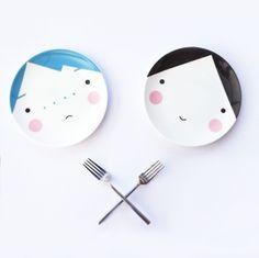 Rosy cheeked party plates. #minidigitalholidayparty