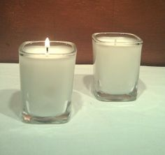 """Square Shot Glass Scented Candles sold in pairs by UReflections, $6.00 Use coupon code """"Pinterest"""" to get 10% off"""