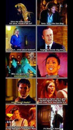 Characters of Doctor Who making references