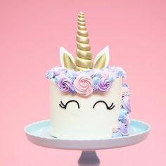 "26k Likes, 100 Comments - Nerdy Nummies (@nerdynummies) on Instagram: ""Learn how to make this Funfetti Unicorn Cake on #NerdyNummies! www.YouTube.com/RosannaPansino"""