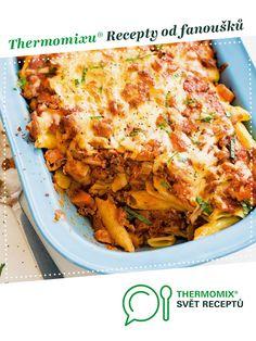 Zapečené boloňské těstoviny od Evapple. A Thermomix <sup>®</sup> recept z kategorie Hlavní jídla - maso z www.svetreceptu.cz, Thermomix <sup>®</sup> skupina. Sup, Lasagna, Anna, Ethnic Recipes, Food, Essen, Meals, Yemek, Lasagne
