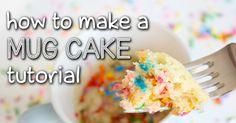 TheCakingGirl: Simple Easy Mug Cake Recipes! - How To Make a Mug Cake Tutorial Best Mug Cake Recipes, Mug Recipes, Dessert Recipes, Cooking Recipes, Microwave Recipes, Easy Recipes, Cupcakes, Cupcake Cakes, Easy Mug Cake