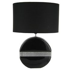 Black Accent Lamp with Bling, I have this so much more beautiful in real Life.  Love it!