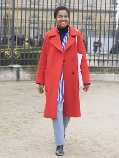 Pin for Later: See the Best Street Style From All of Paris Fashion Week Day 4 Tamu McPherson