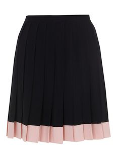 Miranda Makaroff para Lydia Delgado. Two-colored pleated skirt. Black and pink.  #Fashion #Women #Skirt