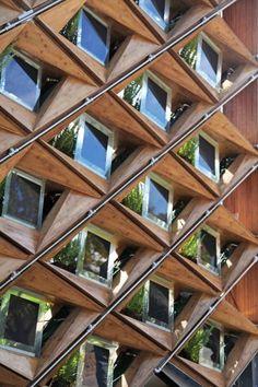 "Sun-Collecting, Parametric ""Skin"" Surrounds Student-Designed House : TreeHugger  Low tech meets hi tech"