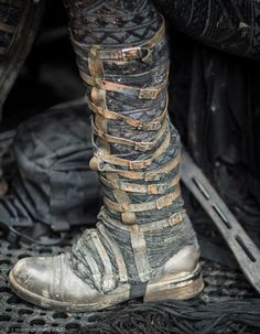 To add buckles up the leg of my boots I need a leather strip like this with loops to hold them up.